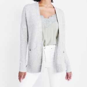 ABERCROMBIE & FITCH White & Black Open Cardigan